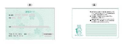 カード マイ なし 通知 ナンバーカード